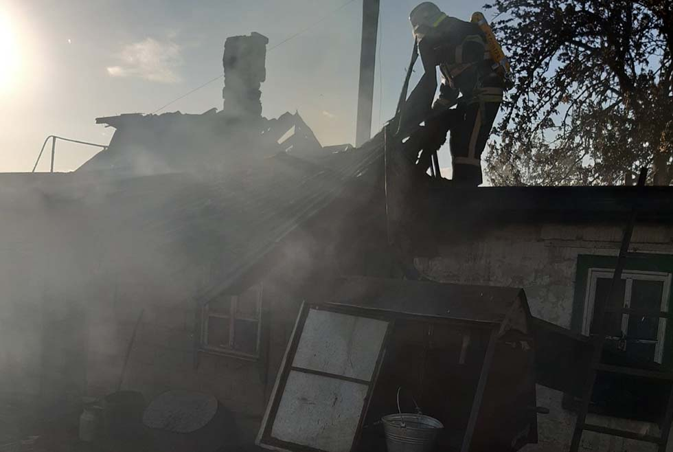 В частном секторе пожар