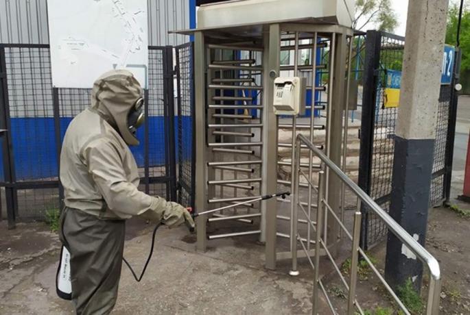 Спасатели обрабатывают улицы. Новости Днепра