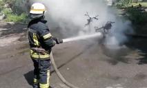 На Днепропетровщине посреди улицы сгорел мотороллер