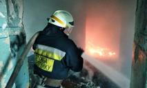 В Днепре спасатели потушили огонь в заброшенном здании