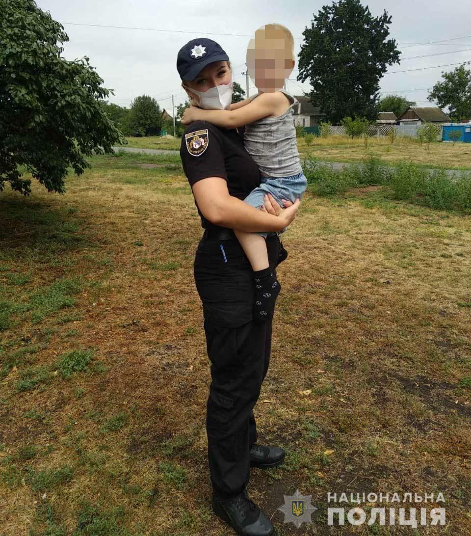 Полицейские вернули 3-летнего малыша родителям. Новости Днепра