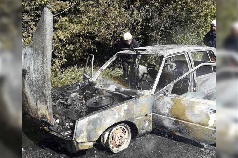 Машина выгорела до металлических конструкций. Новости Днепра