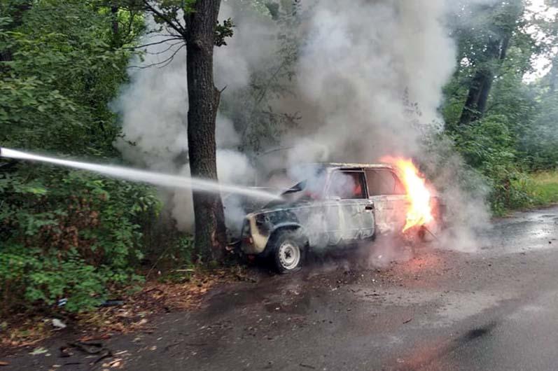 пожар ГСЧС авто