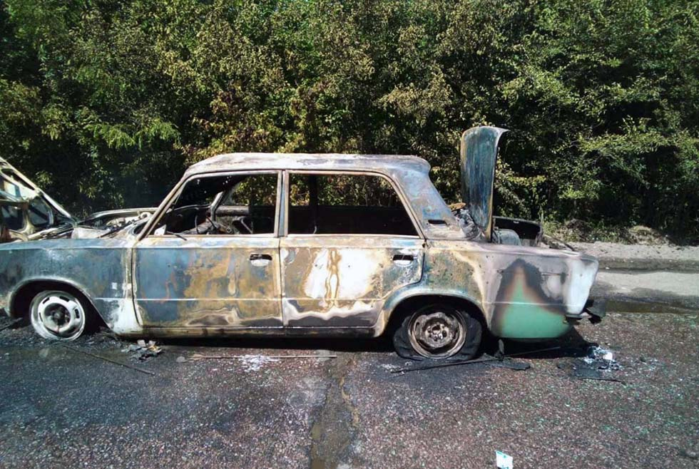 На Днепропетровщине загорелось авто. Новости Днепра