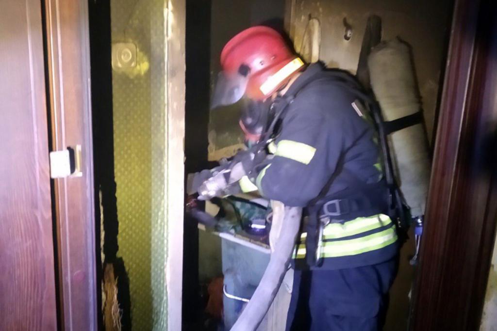 При пожаре пострадал мужчина. Новости Днепра