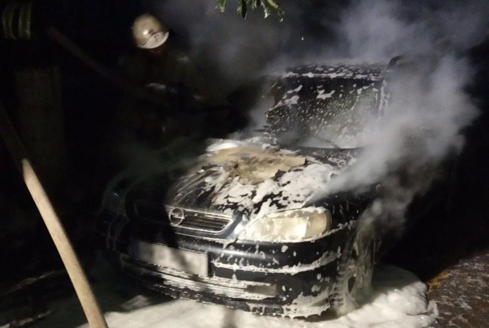 горело авто