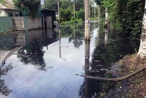 Затопило после дождя улицы. Новости Днепра