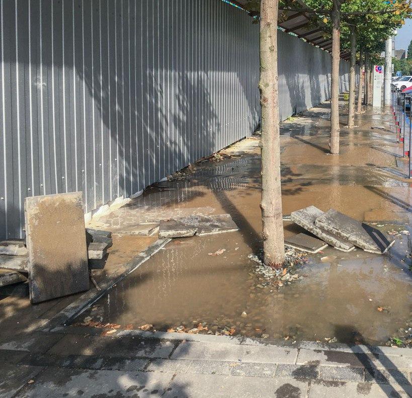 Центр Днепра затопило. Новости Днепра