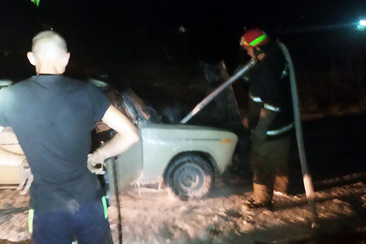На дороге сгорел автомобиль. Новости Днепра