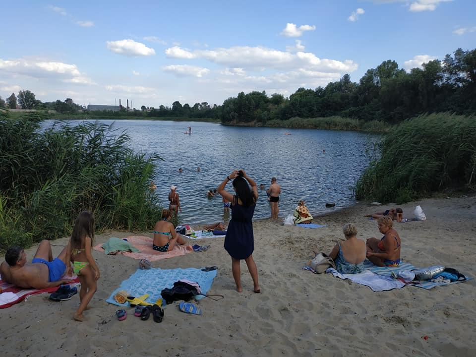Горожане уничтожают берег озера. Новости Днепра