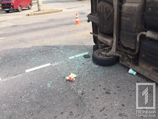 В результате аварии пострадал водитель. Новости Днепра