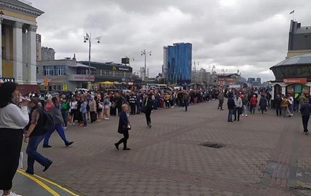 В Киеве образовалась огромная очередь в метро. Новости Днепра