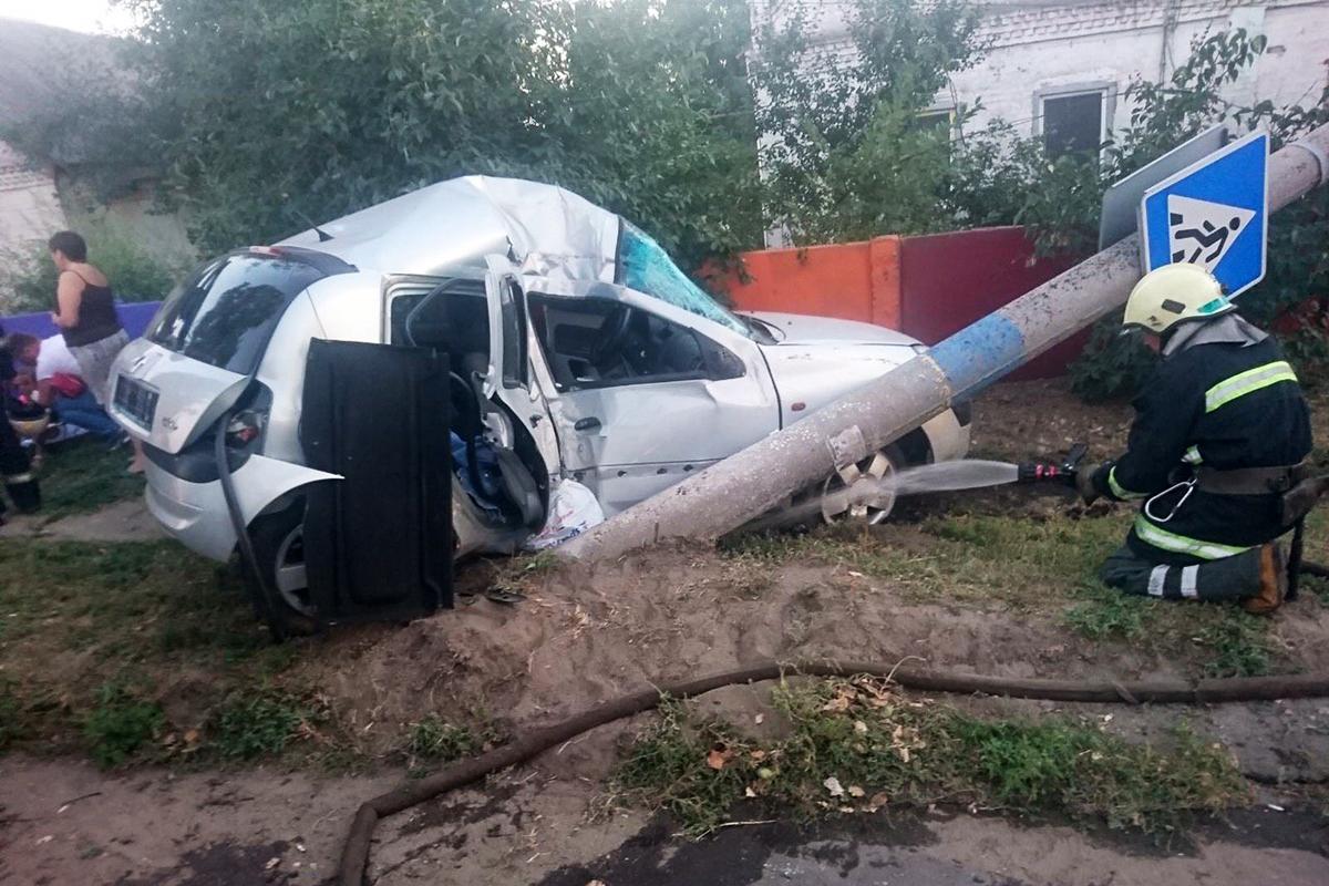 В аварии пострадали двое детей и двое взрослых. Новости Днепра
