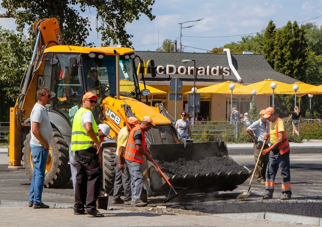 В Днепре ремонтируют дороги. Новости Днепра