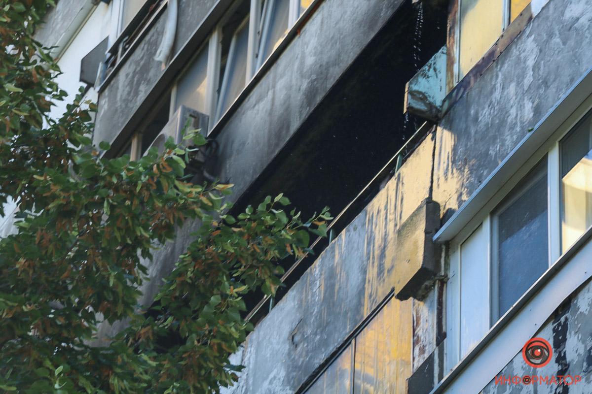 В Днепре пожар охватил квартиру, пострадала женщина. Новости Днепра