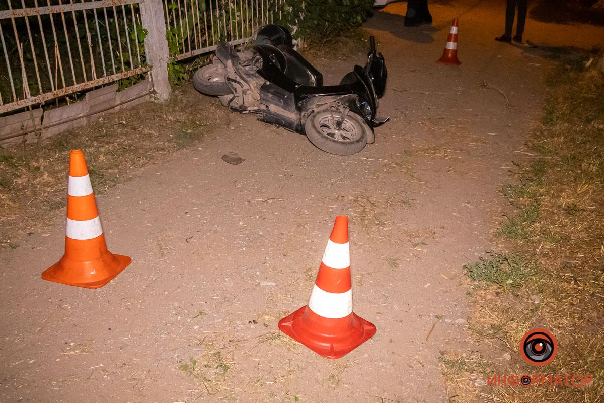 ДТП в Днепре: мотоциклист сбил инспектора полиции