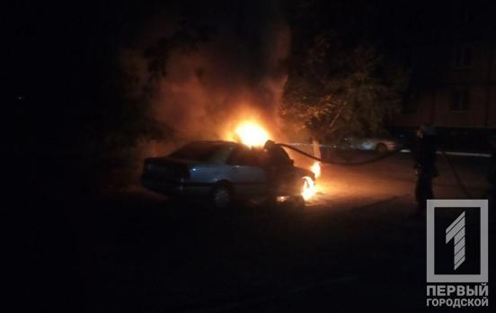 На Днепропетровщине загорелся автомобиль. Новости Днепра