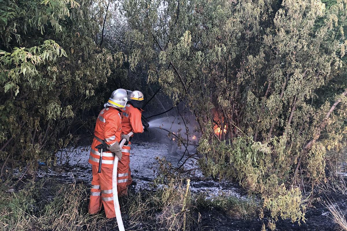 В области пожарные тушили пожар. Новости Днепра
