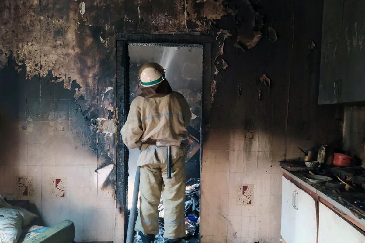 В области во время пожара спасли 58-летнего мужчину. Новости Днепра