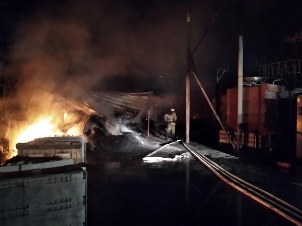 В области пожар возник на территории предприятия. Новости Днепра