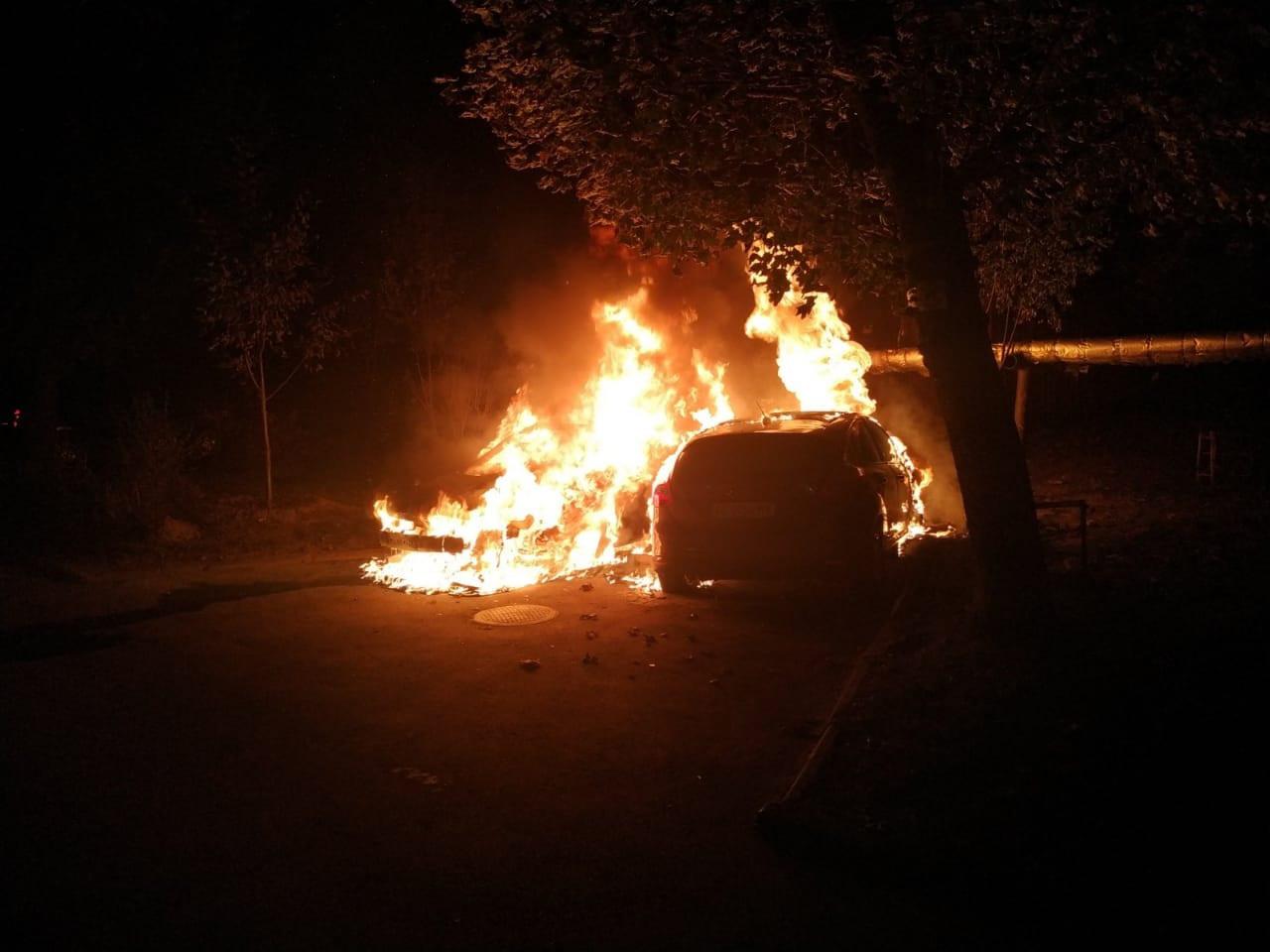 В Днепре горели автомобили. Новости Днепра