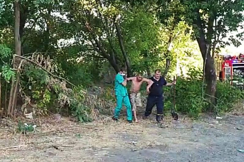 В области во время пожара спасли мужчину. Новости Днепра