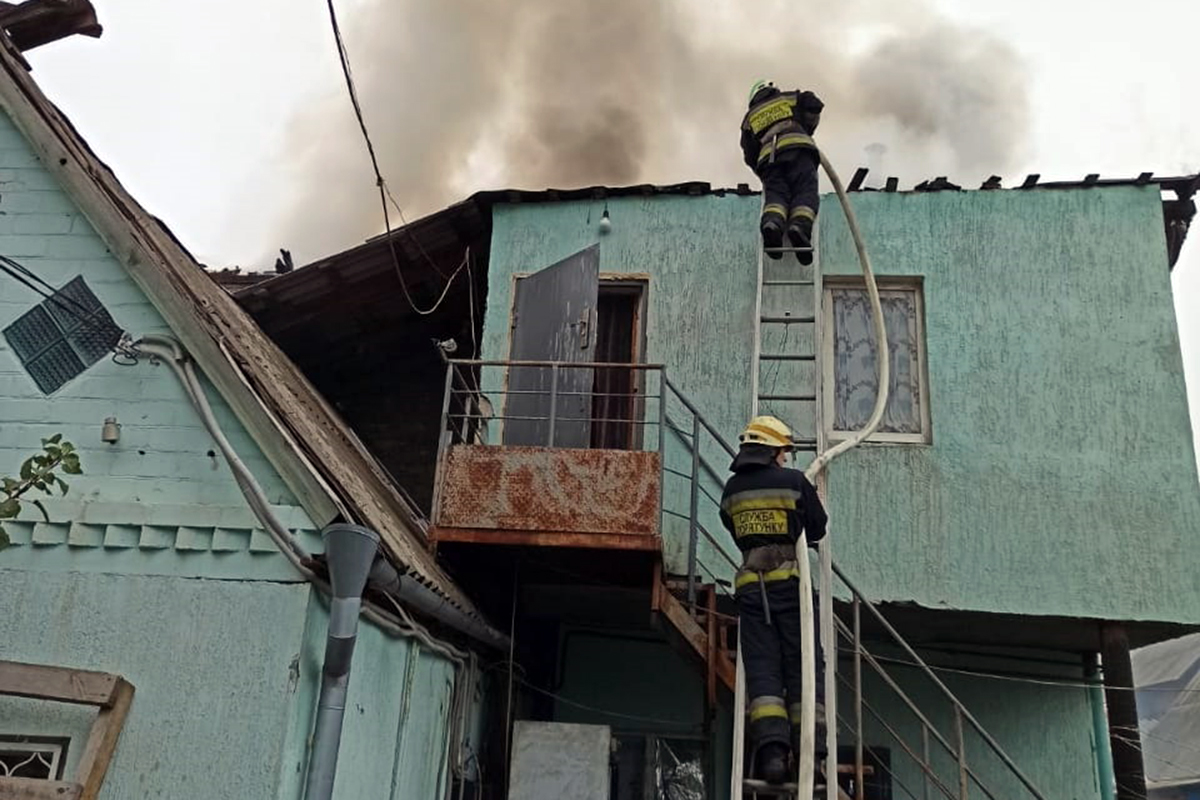 В области сгорел частный дом. Новости Днепра