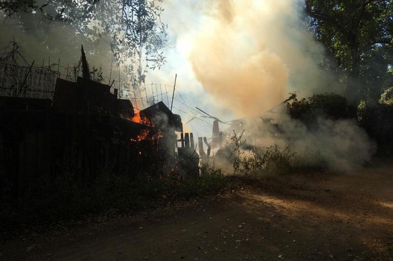 В Днепре горел дом. Новости Днепра