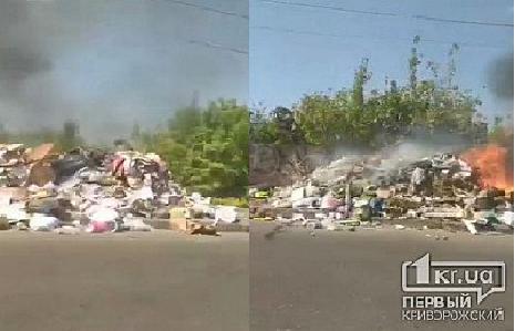 В области огонь охватил стихийную свалку. Новости Днепра