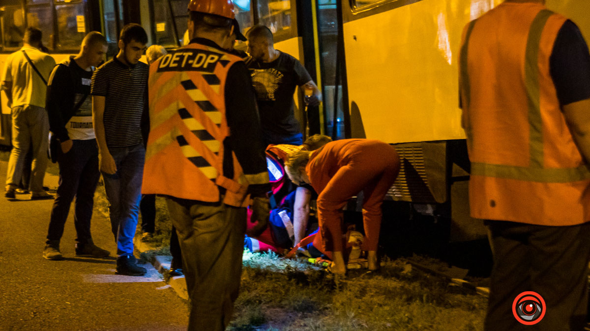 Поздно вечером мужчину переехал трамвай. Новости Днепра