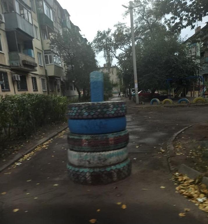 В области жители дворов перекрыли проезд шинами. Новости Днепра