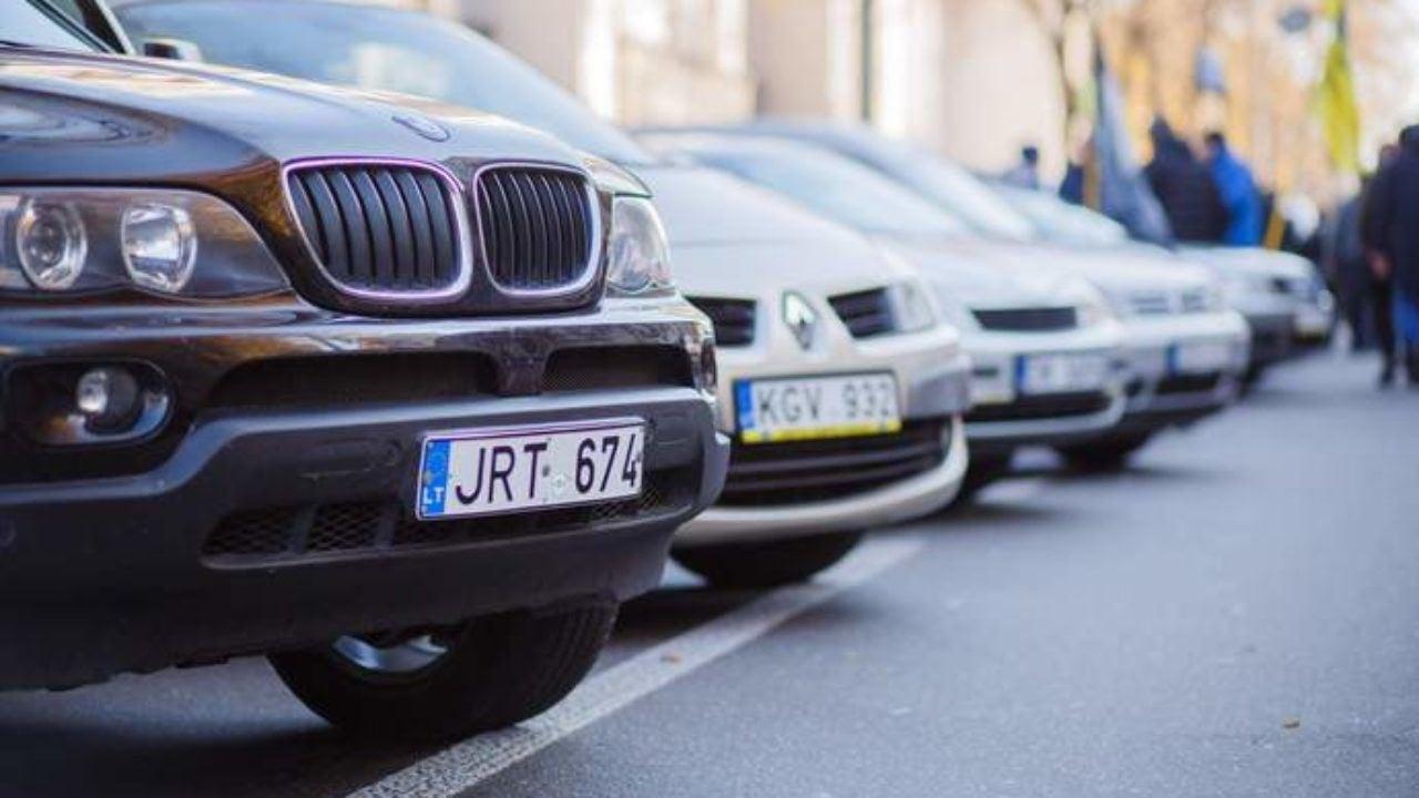 Владельцев авто на европейских номерах будут штрафовать. Новости Днепра