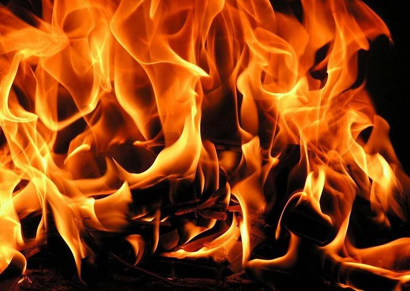 Огонь в квартире. Новости Днепра