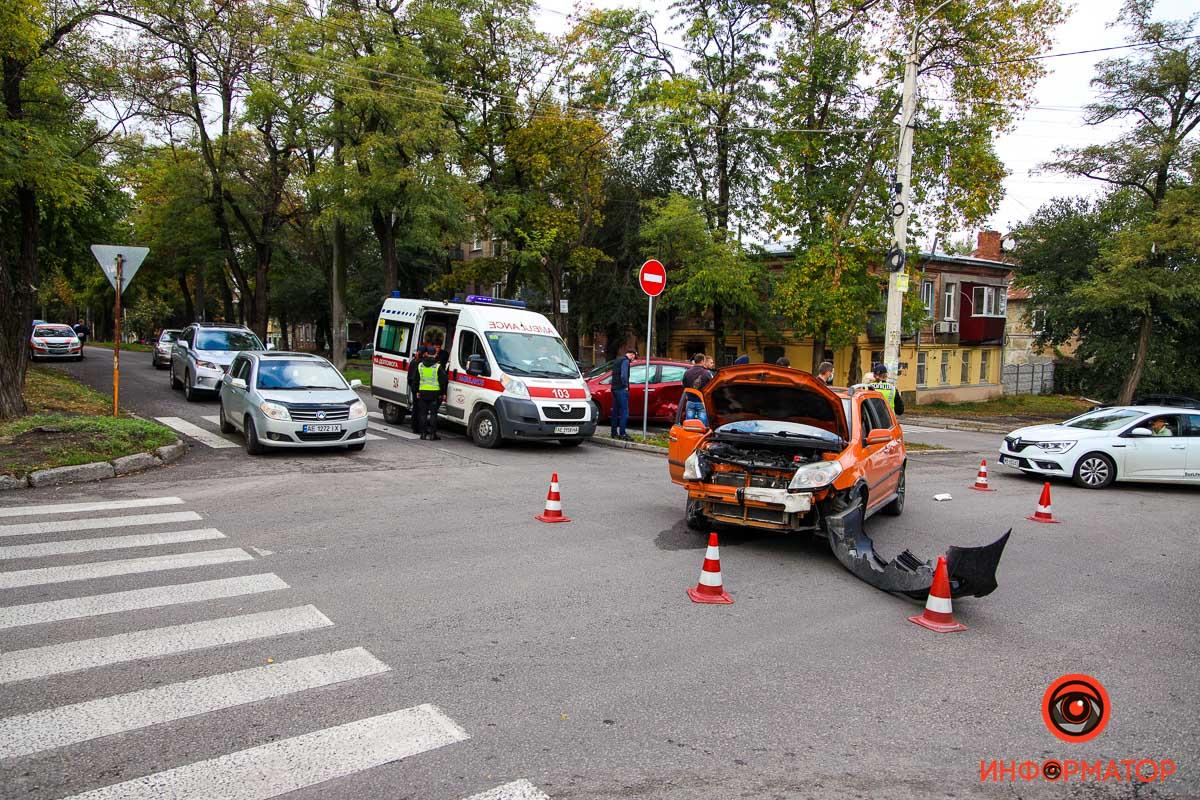 ДТП с 2 авто. Новости Днепра