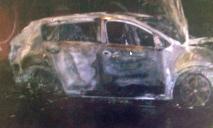 В Днепре горела машина полицейской