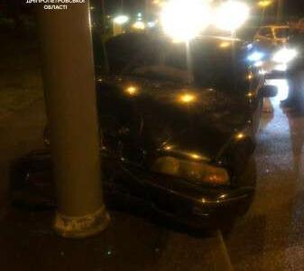 В Днепре пьяный водитель устроил ДТП