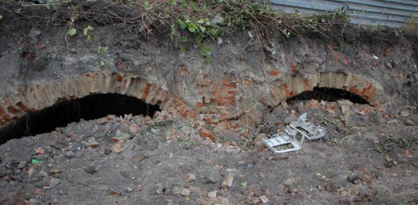 В центре Днепра откопали погреба старинных домов: фотофакт