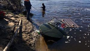 В реке Самара нашли труп мужчины. На месте работали сотрудники правоохранительных органов. Предварительная версия случившегося. Новости Днепра