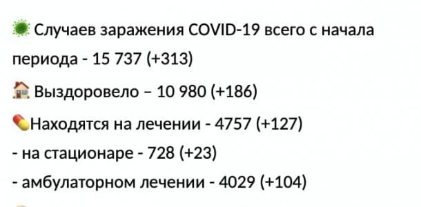 За сутки в Днепре зафиксировали 313 новых случаев COVID-19