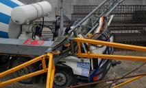 В Днепре высотный кран упал на бетономешалку, погиб мужчина