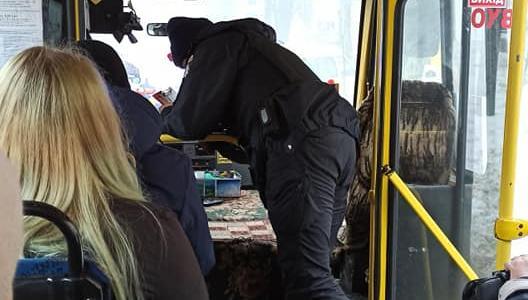 В Днепре водителя маршрутки оштрафовали за отсутствие маски