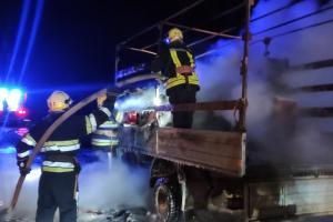 Новости Днепра про Посреди трассы загорелся грузовик с мебелью и бытовой техникой