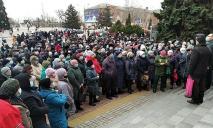 Люди вышли на митинг против отмены льготного тарифа на электроэнергию (ФОТО)