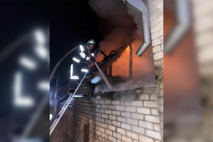 Восемь спасатели целый час тушили пожар. Новости Днепра