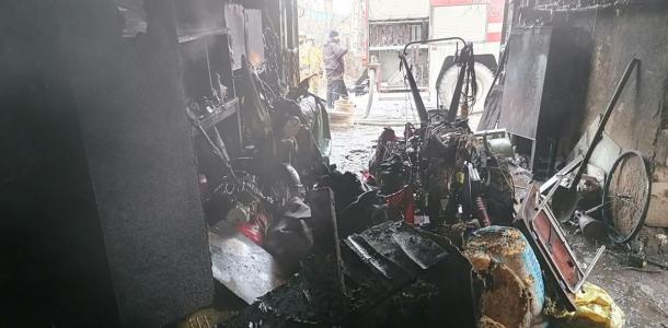 «Пытался самостоятельно потушить пожар»: мужчину госпитализировали с ожогами