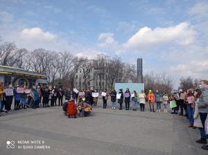 Новости Днепра про ЛГБТ-организация в Днепре проводит необычный перфоманс (ФОТО)