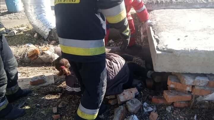 Женщина в Днепре застряла под бетонной плитой. Новости Днепра