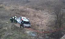 Водителя из покореженной легковушки доставали спасатели под Днепром (ФОТО)