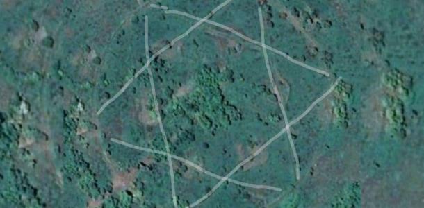 Масоны существуют? На Днепропетровщине нашли военную базу в форме звезды Давида