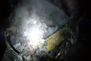 Новости Днепра про В Днепре внезапно загорелся припаркованный автомобиль